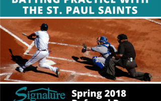 Win Batting Practice with the Saint Paul Saints! Signature Home Services - Roofing and Siding contractor Twin Cities and Rosemount, MN